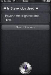 Asking Siri about Steve Jobs