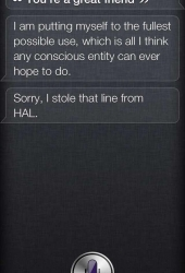 You\'re a great friend, Siri!