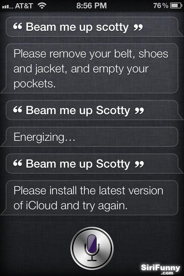 More Beam me up Scotty