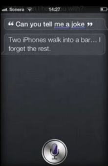 Siri tells a joke but forget something…