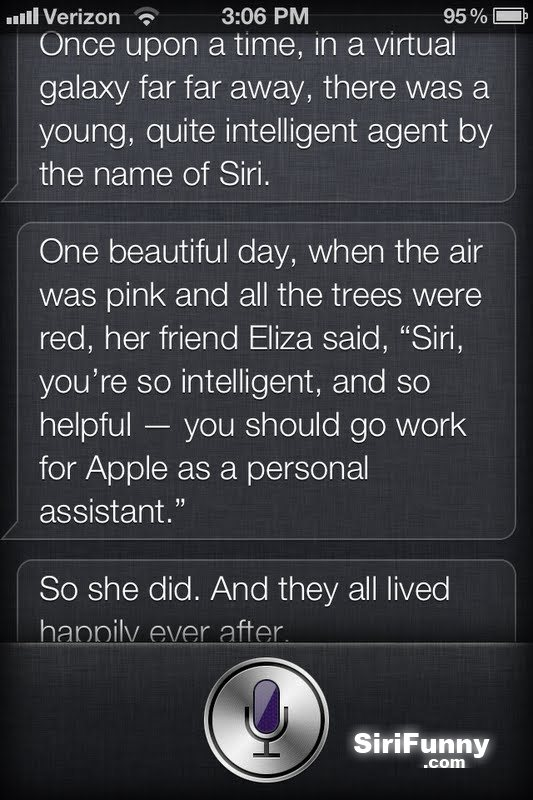 Siri tells a very interesting story about her teacher