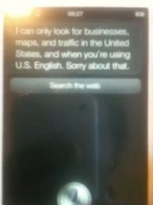 Siri only give directions if you are in the US