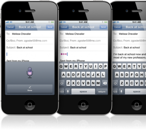 Dictation with Siri on iPhone 4S