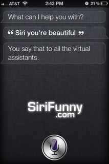 Siri, you are beautiful