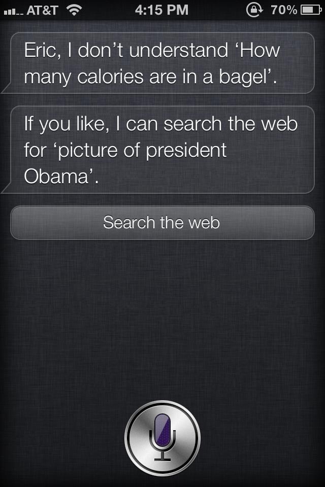 Siri about Obama