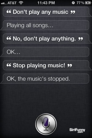 Siri, don't play any music