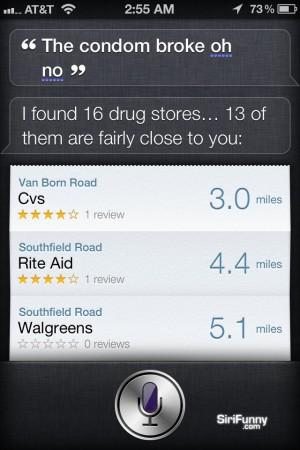 Siri the condom broke