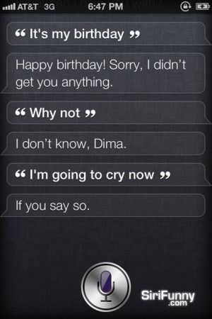 Siri, it's my birthday