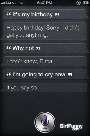 Siri, it's my birthday