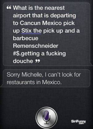 What is the next departing flight to Cancun Siri?