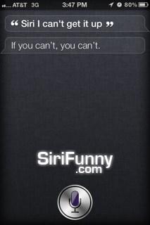Siri, I can't