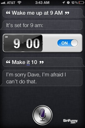 Wake me up at 9 am Siri