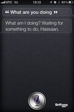 Siri, what are you doing?