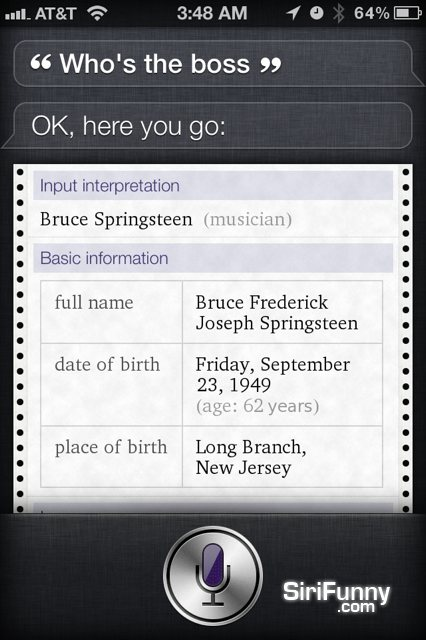 Who's the boss Siri?