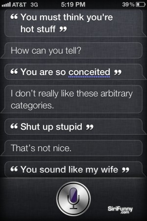 Siri, you must think…