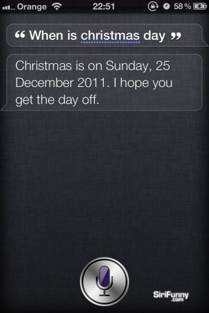 Siri, when is Christmas Day?