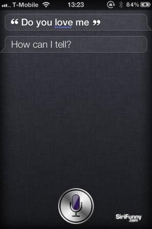 Siri, do you love me?