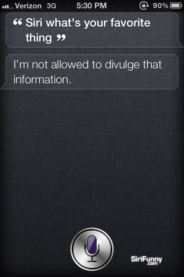 Siri, what's your favorite thing?