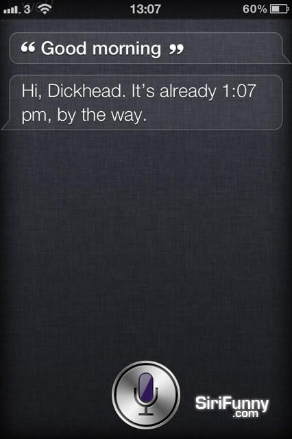 Good morning Siri