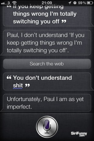 Siri doesn't understand…