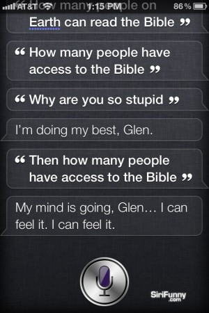 Siri confused by the Bible