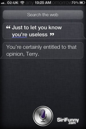 Siri, you're useless