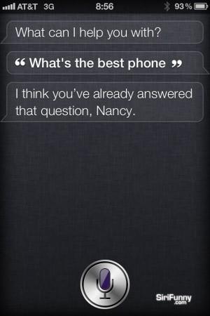 What's the best phone, Siri?