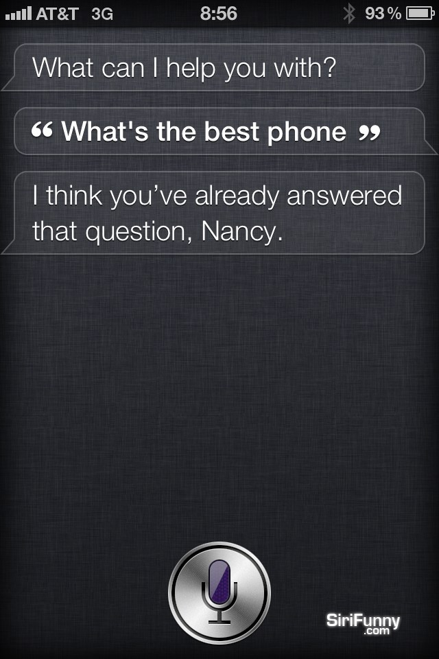 What's the best phone, Siri?