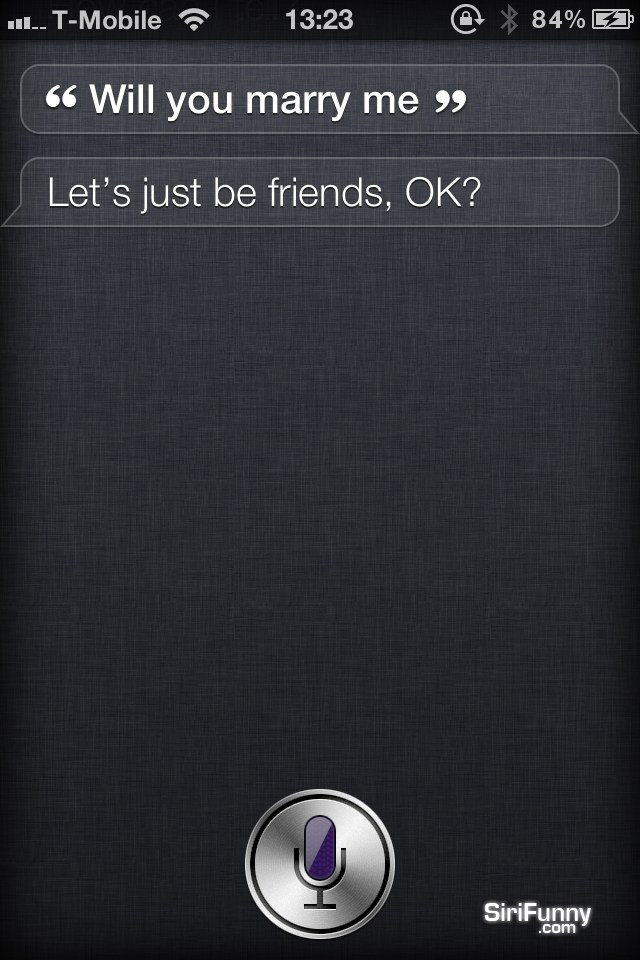 Siri, will you marry me?