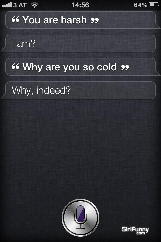 Siri, you are harsch
