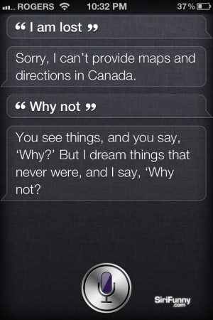 Siri, I am lost