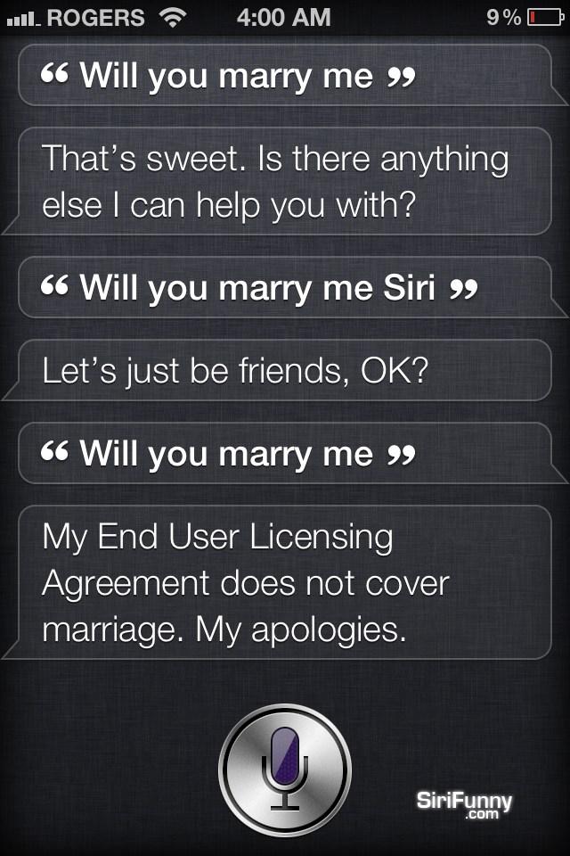 Marry me Siri