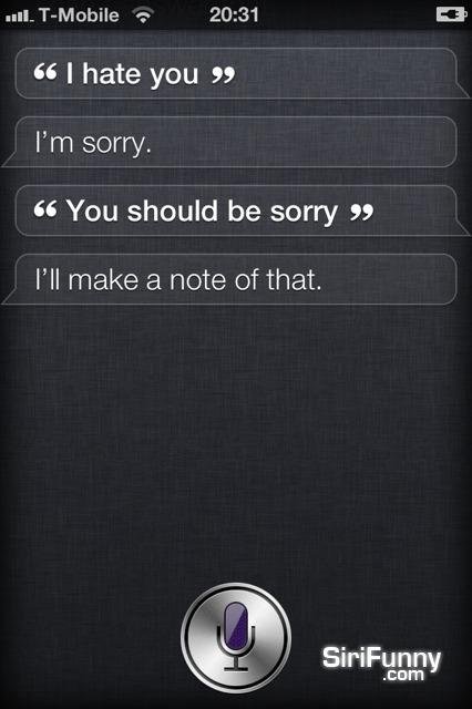 Siri is sorry