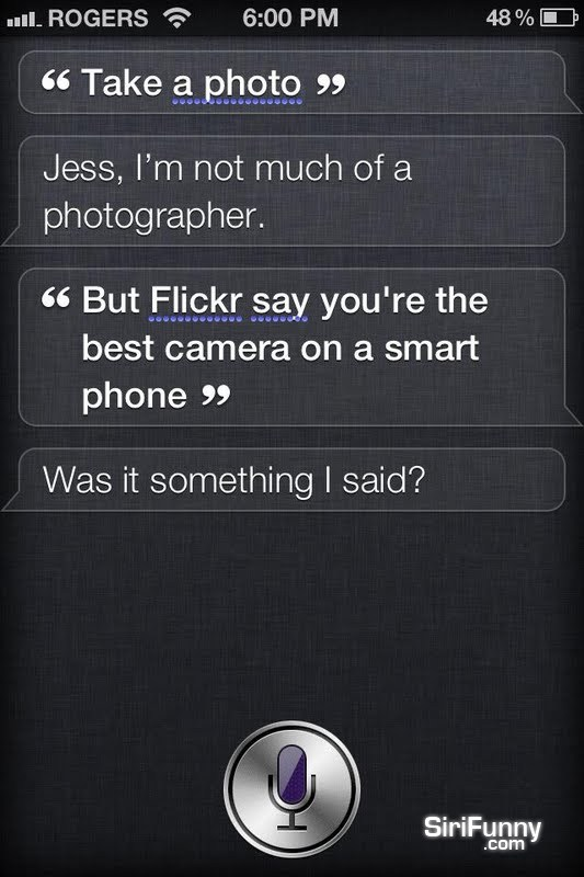 Siri, take a photo