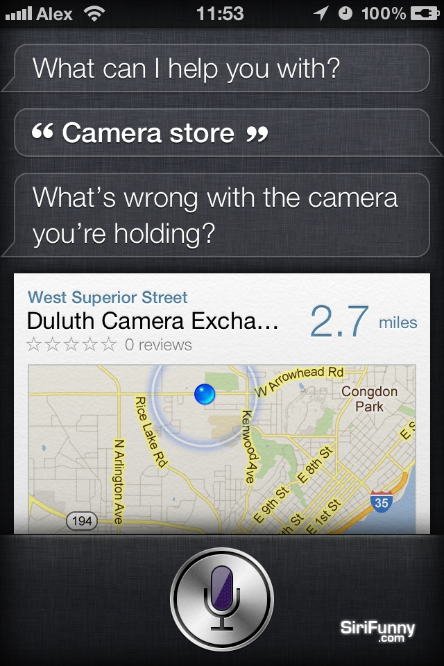 Siri helping you get a new camera