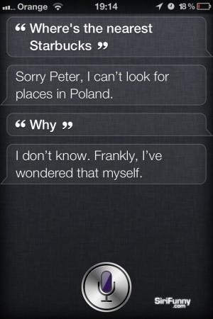 Siri doesn't like Poland