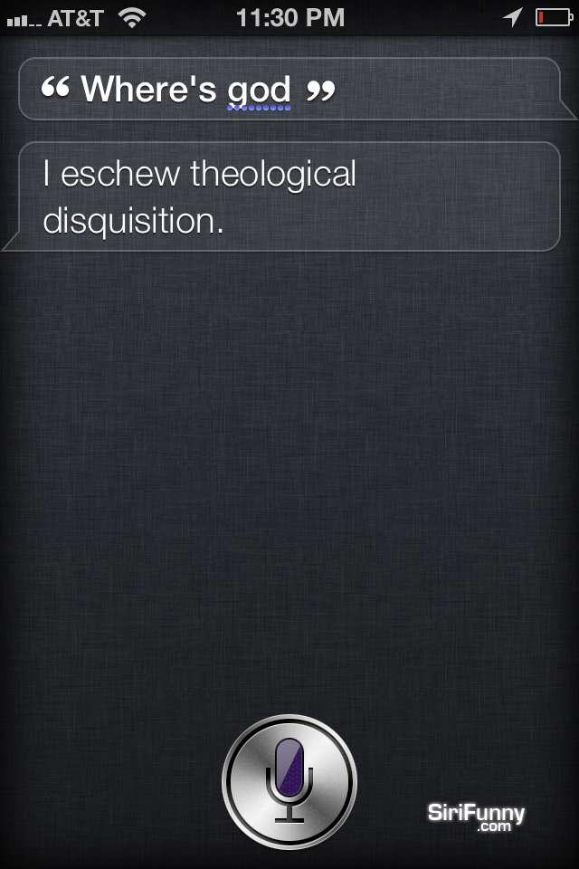 Where's God Siri?