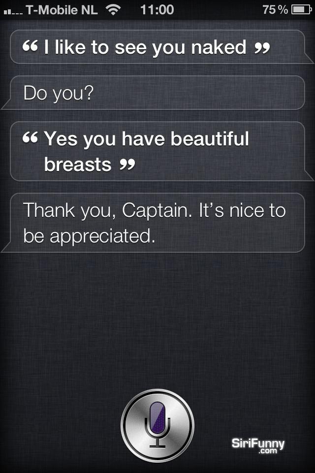 Siri, I'd like to see you nak*d