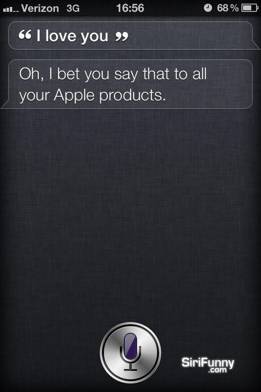 Siri, I love you