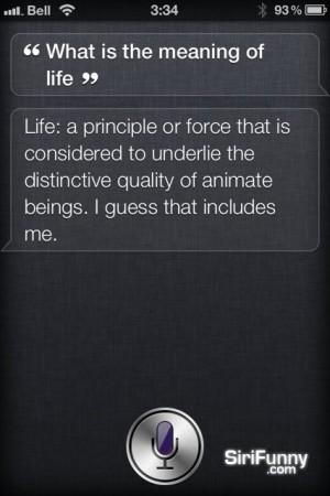 Siri about life
