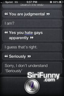 Judgmental Siri