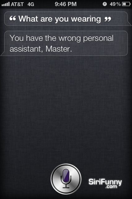 What are you wearing, Siri?