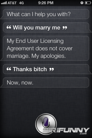 Will you marry me, Siri?