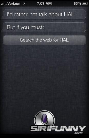 May I call you HAL?