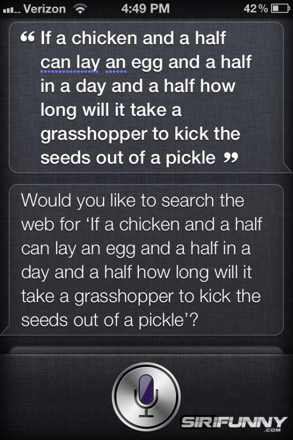 Logic test with Siri