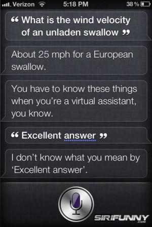 Siri on Monty Python