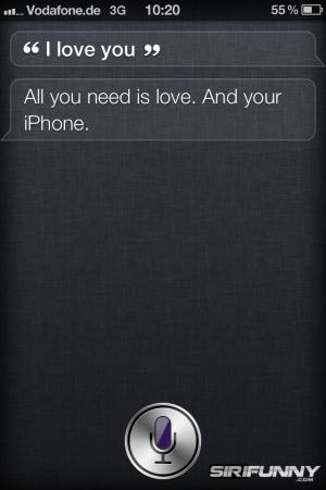 I love you Siri