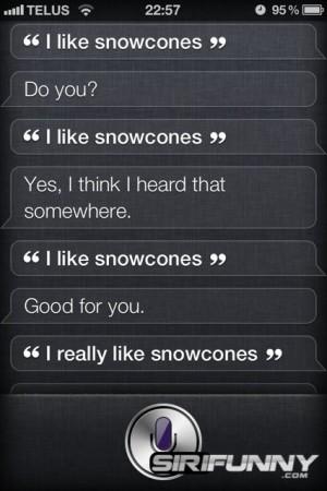 I like snowcones