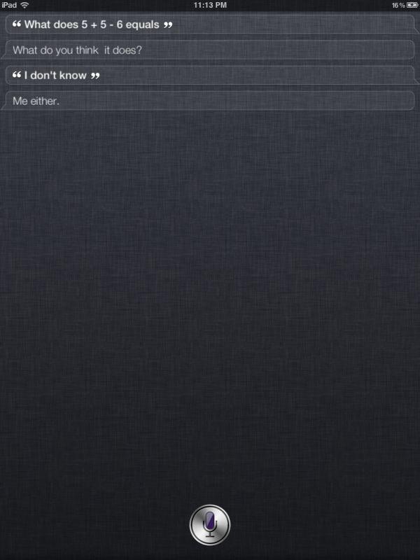 Siri doesn't like math