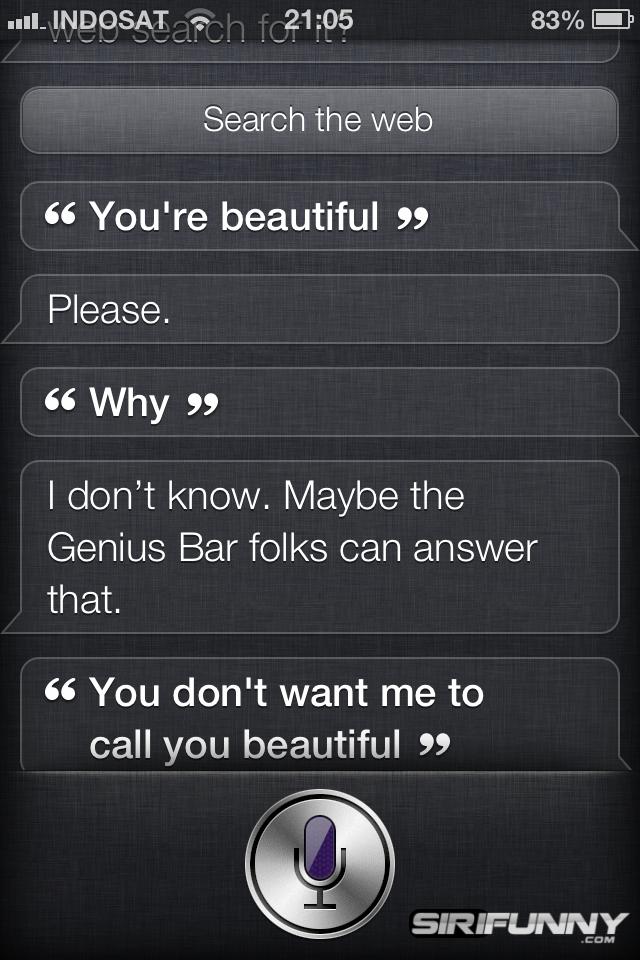 Siri is beautiful